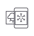 weather mobile smartphone line icon sign vector image