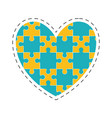 heart puzzle solution image vector image