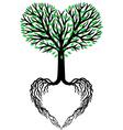 tree of life heart tree vector image