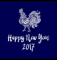 2017 Chinese New Year of the Rooster file vector image vector image