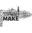 a look at make up infomercials text word cloud vector image vector image