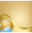 abstract beige background with globe vector image