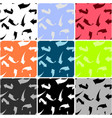 arrows collection of colored seamless patterns vector image