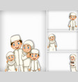 background template design with happy muslim vector image vector image