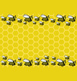 bee honeycombs and bees vector image