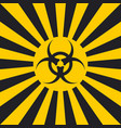 biological hazard sign dangerous pop art style vector image vector image
