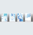 blue exotic cover set vector image