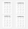 calendar 2019 calendar 2020 calendar 2021 and vector image vector image