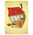 Cartoon Houses Postcard vector image