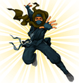 cartoon ninja vector image
