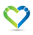 charity business people love concept logo vector image