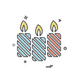 chritstmas candle icon design vector image