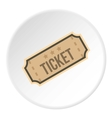 Cinema ticket icon flat style vector image