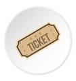 Cinema ticket icon flat style vector image vector image