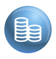 coin stack icon simple style vector image