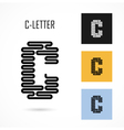 Creative C - letter icon abstract logo design vector image