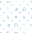 dinner icons pattern seamless white background vector image vector image