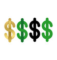 dollars sign icon usd currency symbol isolated vector image