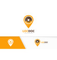 donut and map pointer logo combination vector image vector image