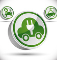 Electric car 3d icon vector image