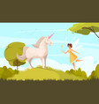 fairy tale background vector image vector image
