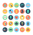 Fashion and Beauty Colored Icons 6 vector image vector image