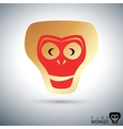 Fire monkey icon vector image vector image