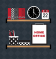 Flat of hipster home office workplace vector image