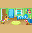 funny bedroom with toys vector image