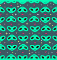 funny heads of aliens in the form of hearts vector image