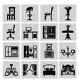 furniture icon vector image vector image
