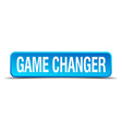 game changer blue 3d realistic square isolated vector image