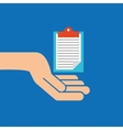 hands clipboard checklist report icon vector image