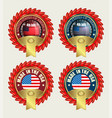 icon with red ribbons and us flag vector image vector image