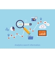 Icons set of analytics search information vector image vector image