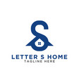 initial letter s and house logo design template vector image vector image