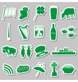ireland country theme symbols green stickers set vector image vector image