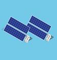 isometric solar panels the new solar battery vector image