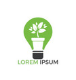 light bulb and plant in a pot concept logo design vector image vector image