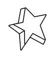 line cute bright star art design vector image vector image