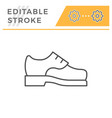 male shoe editable stroke line outline icon vector image vector image