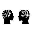 mental health concept man and woman head vector image vector image