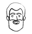 monochrome blurred silhouette of smiling man face vector image