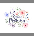 mothers day german watercolor flower card vector image vector image