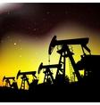 Oil pump jack vector image vector image