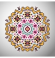 Ornamental round geometric pattern in aztec style vector image