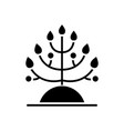 plant - biology icon black vector image vector image
