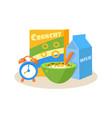 pupil breakfast education design vector image vector image