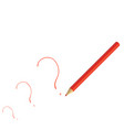 red pencil isolated on white vector image vector image