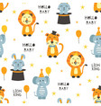 seamless pattern with circus animals vector image vector image
